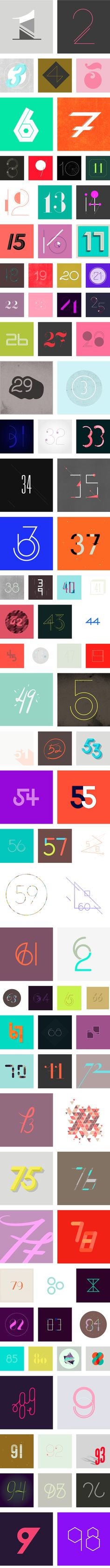 365 Days of Type: A Daily Numerical Font for Every Day of the Year 2013 by Sabrina Smelko