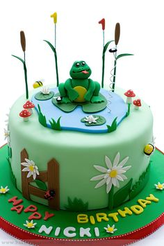 Frog in a cake
