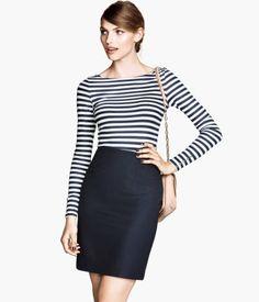 dark blue pencil #skirt #wishlist from H&M ID