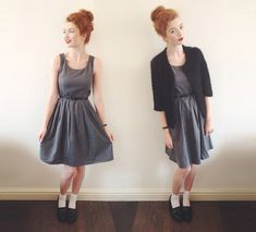 Fit & Flare Dress, Primark Patent Loafers, Pussycat London Fluffy Jacket