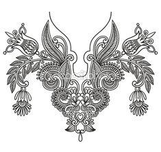 Neckline embroidery fashion by karakotsya - Imagen vectorial