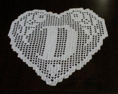 PATTERN crochet filet schema lettera F por CreazioniFiopi en Etsy