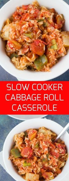 Easy to make and extra delicious Cabbage Roll Casserole made in 3 hours in the Slow Cooker! These are also called Halupkie! Easy to make and extra delicious Cabbage Roll Casserole made in 3 hours in the Slow Cooker! These are also called Halupkie! Crock Pot Recipes, Slow Cooker Recipes, Paleo Recipes, Cooking Recipes, Crockpot Cabbage Recipes, Stuffed Cabbage Crockpot, Crockpot Unstuffed Cabbage Rolls, Crock Pots, Cheap Recipes
