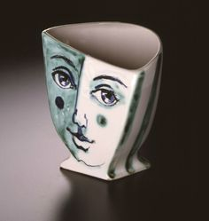 1950s vase, earthenware, made by Martin Boyd (1893 – 1972), Sydney, Australia