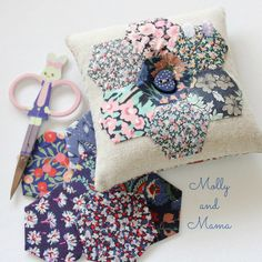 Hexie Pin Cushion by Molly and Mama
