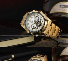 Aliexpress.com : Buy FORSINING Men's Watch Luxury Automatic Bracelet Dress Wristwatch Fantastic Analog Calendar Color Gold FSG340M4G2 from Reliable calendar lamp suppliers on FORSINING watch