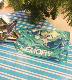 DIY Snowy Marbled Gift Tag