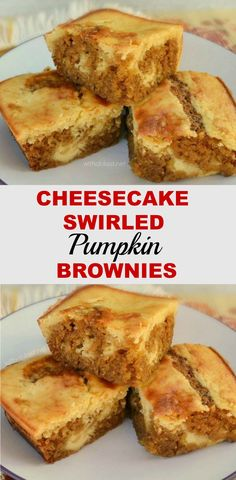 Cheesecake Swirled Pumpkin Brownies