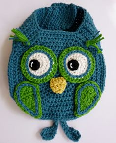 Owl Drool Bib crochet pattern by Darleen Hopkins #crochet #crochetpattern