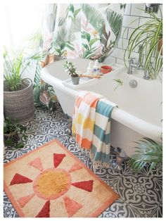 Tips on how to give your bathroom a summer refresh using the tropical trend with these 7 key buys - Maxine Brady from We Love Home Bathroom Plants, Bathroom Ideas, Budget Bathroom, Bathroom Inspo, Small Bathroom, Jungle Bathroom, Wooden Bath, Shower Time, Interior Stylist