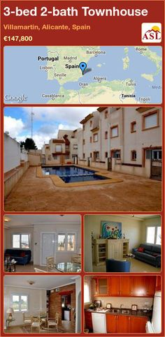 3-bed 2-bath Townhouse in Villamartin, Alicante, Spain ►€147,800 #PropertyForSaleInSpain
