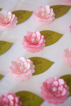 Wedding Place Cards ~ Lovely little place cards :)
