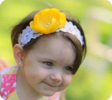 Accessories in Baby & Toddler - Etsy Kids -- lace headband with huge flower? yes, please!