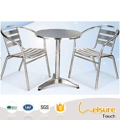 Convenience design outdoor aluminum table and chair used for restaurant