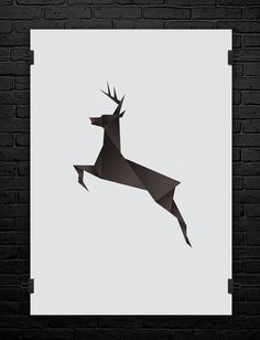 Caribou, Occasional Christmas graphic design.  // Nowik Nowicki