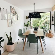 Can you spot our pretty round planter in blush in @sarahshireed's gorgeous dining space? #diningroomgoals #diningroomideas #diningroomdesign Decor Interior Design, Interior Decorating, Dining Chairs, Dining Table, Beautiful Dining Rooms, Dining Room Design, Decoration, Room Decor, House