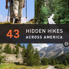 """43 Hidden Hikes to Try. Good list of various difficulties & lengths. Since """"camping/hiking"""" trips have been mentioned. Camping And Hiking, Outdoor Camping, Hiking Trails, Hiking Usa, Colorado Hiking, Backpacking Tips, Camping Ideas, Camping Hacks, Places To Travel"""