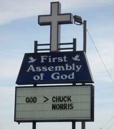 God > Chuck Norris