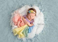 Destiny Gown • Rainbow {pastel tones} Newborn Gown • Rainbow Baby • by Sew Trendy