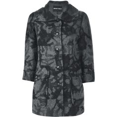 Emporio Armani Short Camouflage Coat ($542) ❤ liked on Polyvore
