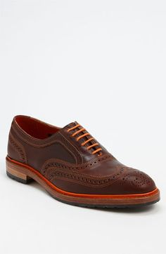 Okay. Maybe I like these more than Husband would. But if I could pull off men's shoes... Allen Edmonds 'Ridgeway' Wingtip (Online Only) | Nordstrom