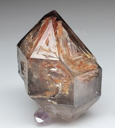 Skeletal Smoky Quartz with Amethyst - Goboboseb Mtns., Brandberg District, Namibia