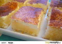 Peřinková buchta s pudinkem recept - TopRecepty.cz Czech Desserts, Sweet And Salty, Sweet Recipes, Sweet Tooth, Cheesecake, Food And Drink, Sweets, Baking, Pastries