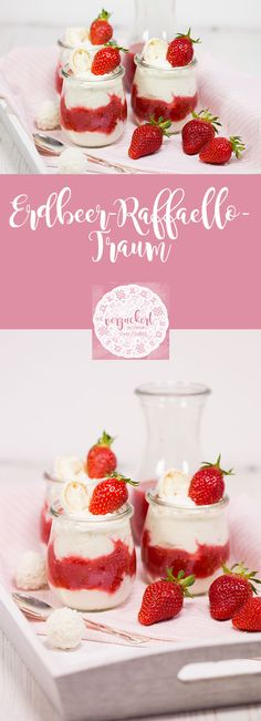 Strawberry Raffaello Dream {A Spring Dream Team} The post Strawberry Raffaello Dream Recipe appeared first on Dessert Park. Dessert Simple, Rafaello Dessert, Fall Desserts, Dessert Recipes, Drink Recipes, Dream Recipe, Pumpkin Spice Cupcakes, Strawberry Recipes, Ice Cream Recipes