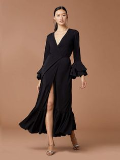 cd76eae3 Diane von Furstenberg Puff Sleeve Wrap Dress Effortless Chic, Fabulous  Dresses, Ruffle Trim,