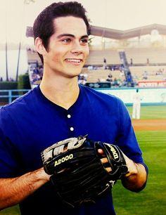 dylan obrien anddd baseball, oh my god, I've fallen in looovvveee
