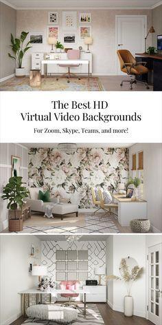 Zoom Backgrounds Backdrop Office Background Microsoft Teams Facebook Webex Skype Google Meet In 2021 Living Room Background Office Background Home Office Decor
