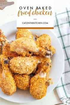 """Got drumsticks in the freezer? Rather with dealing with hot oil and the mess it makes, try this easy, healthier oven baked """"fried"""" chicken!"""