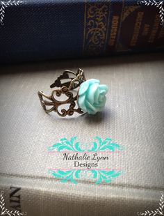 Filigree Adjustable Rose Ring by nathalielynndesigns on Etsy, $7.00