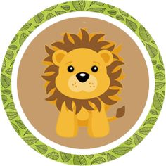 Lots of Safari circles Jungle Theme Birthday, Jungle Party, Safari Party, Safari Theme, Boy First Birthday, Deco Baby Shower, Baby Boy Shower, Chat Lion, Lion Party