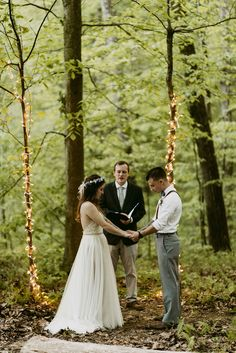 Dusk Elopement in the woods, wedding in the woods, elopement, adventure wedding photographer