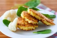 Crisp Lentil & Onion Fritters from Cookspiration by DietitiansCAN Queso Cheddar, B Recipe, Puffer, Greek Recipes, Different Recipes, Fritters, Beignets, Salmon Burgers, Cauliflower
