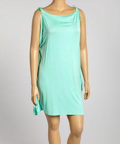 Loving this Mint Cutout Dress - Plus on #zulily! #zulilyfinds