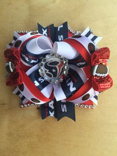 Football Boutique Bow by PincurlsNCrowns on Etsy