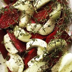 Beetroot, onion and thyme