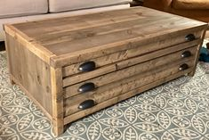 Printmaker Coffee Table - DIY Projects