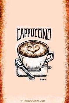 Cappucino ✯ ♥ ✯ ♥ coffee ✯ ♥ ✯ ♥
