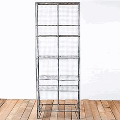 Gym shelves - industrial but not bulky.