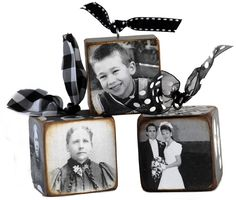 Awesome idea for our first Christmas as a married couple - use engagement and wedding photos