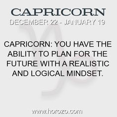 Fact about Capricorn: Capricorn: You have the ability to plan for the future... #capricorn, #capricornfact, #zodiac. More info here: https://www.horozo.com/blog/capricorn-you-have-the-ability-to-plan-for-the-future/ Astrology dating site: https://www.horozo.com