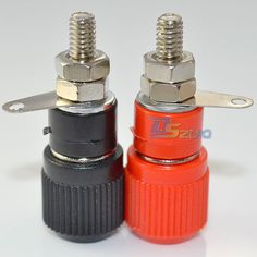 High Quality1 pair Amplifier Terminal Binding Post Banana Plug Jack Panel mount connector