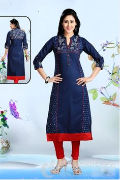 http://www.mangaldeep.co.in/latest-kurties/enchanting-royal-blue-ready-made-kurti-5347 For further inquiry whatsapp or call at +919377222211