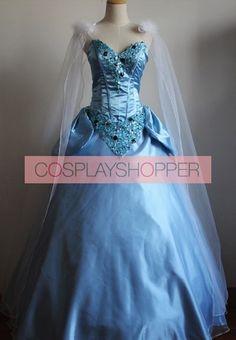 Princess Cinderella Dress Cosplay Costume Cosplay Dress, Cosplay Wigs, Costume Dress, Cinderella Blue Dress, Cinderella Cosplay, Blue Dresses, Prom Dresses, Formal Dresses, Disney Cosplay Costumes