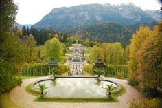 "Photo of "" the Hunting Lodge"", the Royal Castle of Linderhof at Oberammergau"
