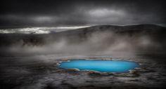 Hveravellir at night. Iceland Photography by Christoph Blank