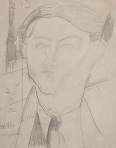 'portrait of paul guillaume' by amedeo modigliani (1915)